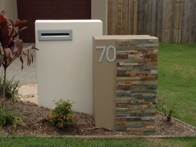 E82 Double Column Mailbox - no brochure hole