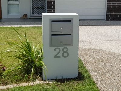 Mailbox Designs 2 Unit Mailbox With Front Opening Designs Nongzico