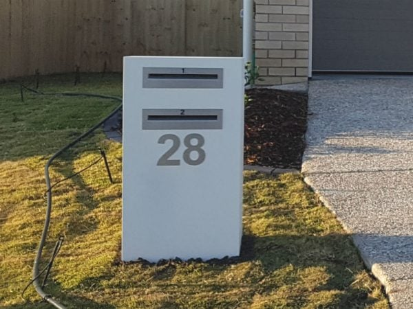 2 Unit Mailbox with back opening