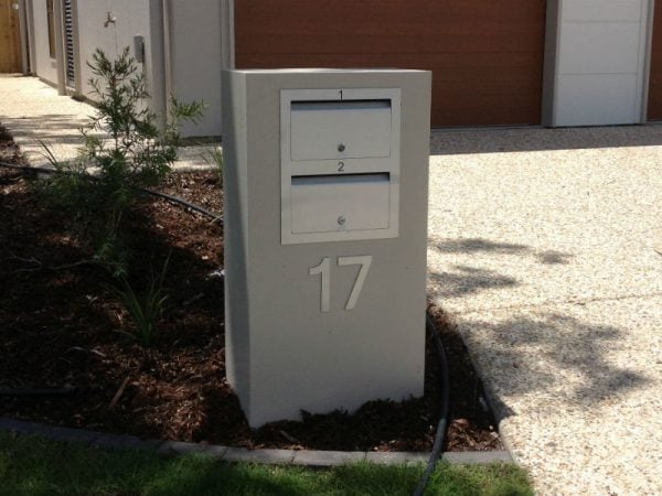 2 Unit Mailbox with front opening