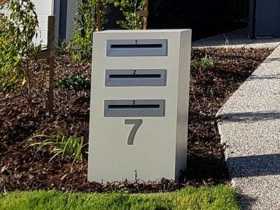 3 Unit Mailbox back opening