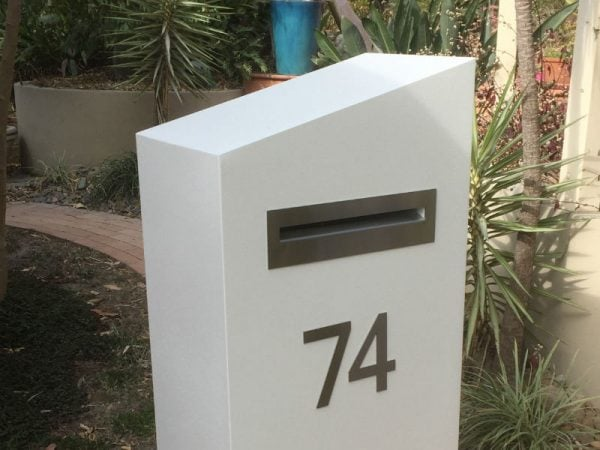 E74 Single Mailbox stainless steel