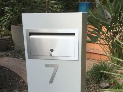 E9 Single Mailbox stainless steel fittings