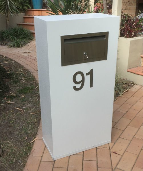 E91 Single Mailbox stainless steel