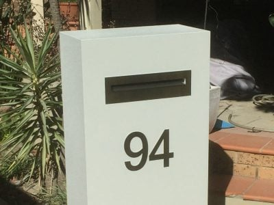 E94 Single Mailbox stainless steel