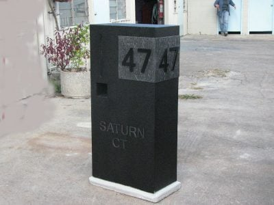 E97 Tile Mailbox Single Column